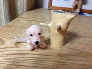犬毛 人形