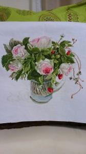バラ 刺繍